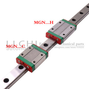 Image 2 - 2PC Scorrimento Lineare MGN7C MGN7H MGN9C MGN9H MGN12C MGN12H MGN15C MGN15H con 2PC MGN Lineare Rotaia di Guida 150mm 300 millimetri 400 millimetri