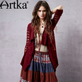 Artka Women's Spring Vintage Solid Color Sweater Cardigan Long Sleeve Hollow Out All-Match Casual Cardigan WB14153C