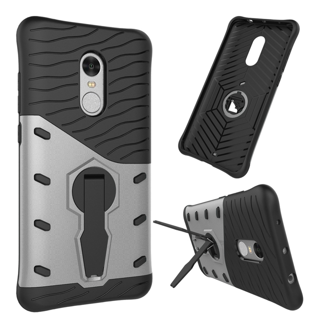 wholesale dealer 88e23 8eb5d US $3.89  For Fundas Xiaomi Redmi Note 4 Case Hybrid Dual Heavy Duty 3D  Armor Stand Black Cover Case For Xiaomi Redmi Note 4 Coque 64GB-in Fitted  ...