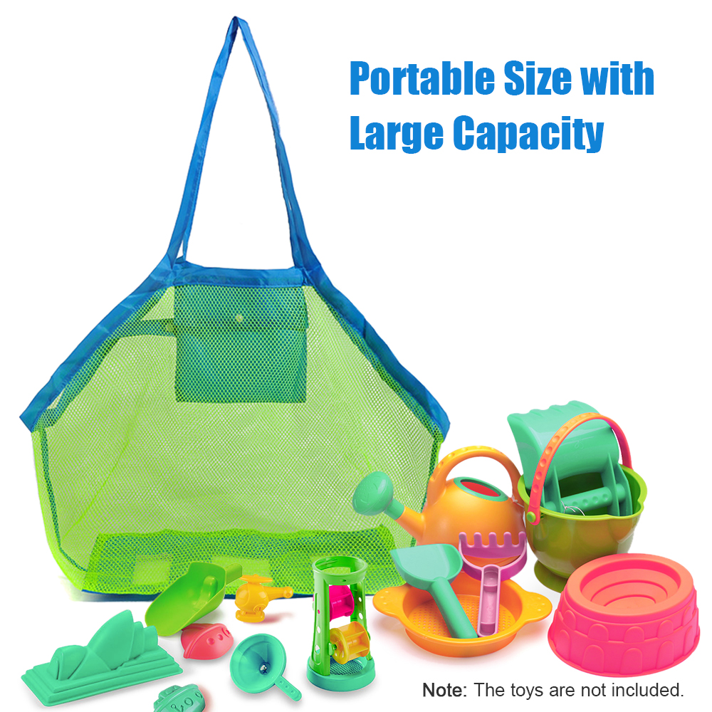 Beach Mesh Bag Foldable Mesh Swimming Bag For Adult Children Beach Toy Baskets Storage Bag Kids Swimming Waterproof Bags