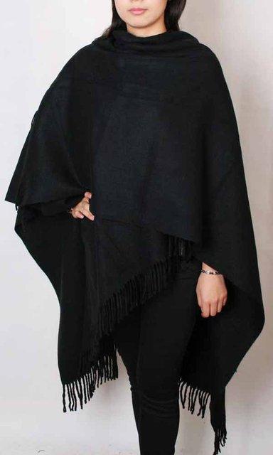 100% mulheres de inverno de espessura xale cachecóis envoltório cor Soild SW2025