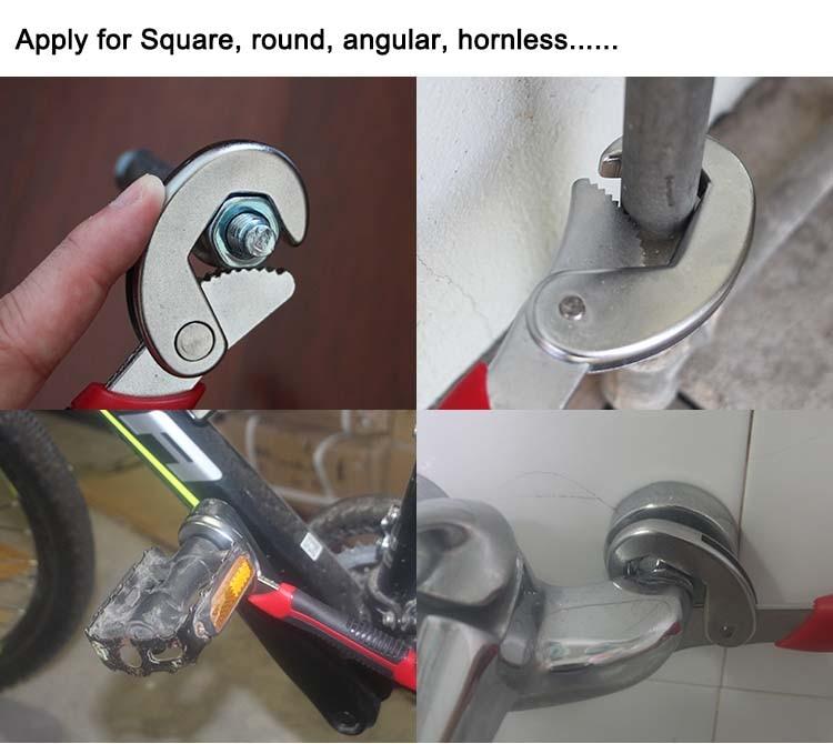 Купить с кэшбэком High Quality Universal Socket Adjustable wrench Open end wrench 2 PCS snap n grip tool Spanner F14