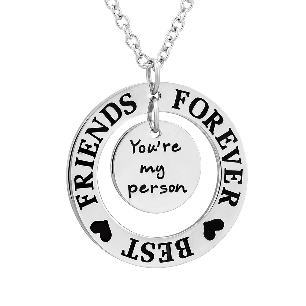 Fashion Stainless Steel Jewelry Your are my person FOREVER BEST FRIEND Memorial Necklace image