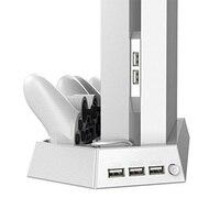 Cooler Pad Ventilador vertical de Calor Juego de Mount Kit de Soporte Holder para Sony PlayStation 4 cargador para Play Station 4 PS 4 consola