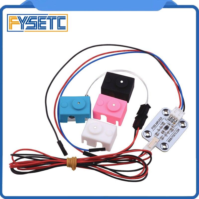 Hot End PT100 Sensor Upgrade Kit PT100 Temperature Control Panel Sensor Heating Block With Silicone Sock 3D Printer Part
