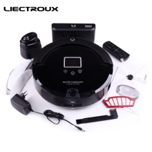 LIECTROUX  Robot Vacuum Cleaner A320 Dry Cleaning, Mop,Time Schedule,Virtual Block Smart Auto ReCharge,Remote Home Aspirator