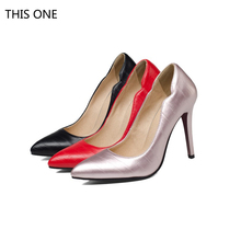 THIS ONE Hot sell 2018 Brand Shoes Woman High Heels Women Pumps Stiletto Thin Heel Pointed Toe Patent leather Zapatos Feminina цена в Москве и Питере