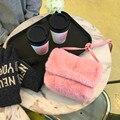 2017 new handbag bag all-match fur plush casual Shoulder Messenger small plush bag