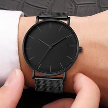 2020 Montre Femme Modern Women Watch Fashion Black Quartz Wristwatch Women Mesh Band Simple Watches Luxury Ladies Reloj Mujer