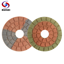 RIJILEI 10PCS/Set  3inch Super quality Diamond polishing pads 80mm Wet pad Marble Granite Abrasive tools HF07