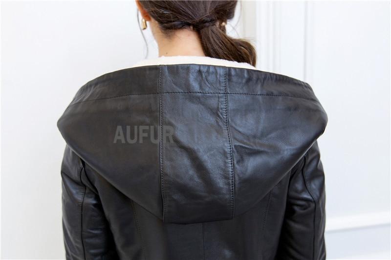 Aliexpress.com : Buy Winter Sheep Leather Jacket Women Hoody ...