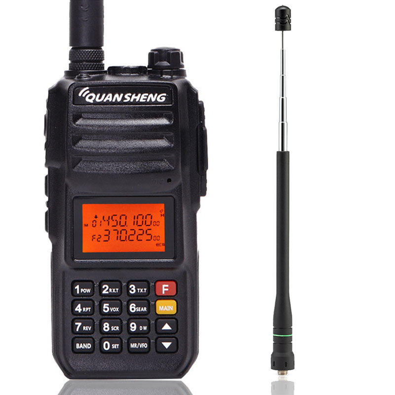 Quansheng TG-UV2 PLUS Puissant 10 W 5 Bandes (136-174 MHz/350-390 MHz/400 -470 MHz) 4000 batterie mah Talkie Walkie + NA-771R Antenne