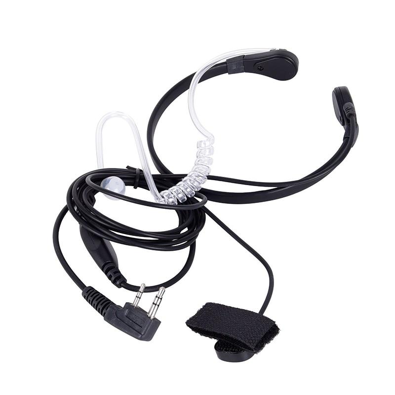 Throat Mic Earpiece Headset Finger PTT For Baofeng UV5R 888s Radio Wireless Walkie Talkie Microphone Inside PTT Switch Headphone