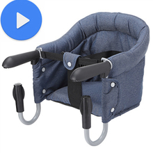 Baby kids chair Portable Seat Children'S Travel Dining chair for children Baby Eating Feeding Multifunctional Infant indoor blue