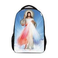 3D Printed Jesus God Christianity Children Packs Boys Girls School Shoulder Bags Bagpack Mochila Mujer Bolsa Escolar