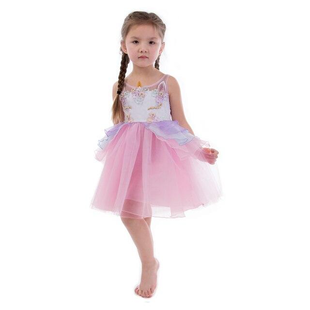 Unicornio bebé Niñas verano Vestidos robe fille princesa vestido con ...