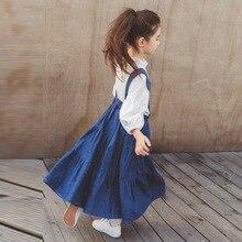 цены на Girls Denim Skirts Fall Winter Kids Clothes Casual Toddler Girl Jean Skirt with Pocket Big children Clothing Family Match  в интернет-магазинах