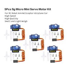 Hot! Dxw 90 5 Stks/partij 9G Micro Mini Servo Motor Hoorns Voor SG90 Rc Robot Arm Helicopter Schuimend Vliegtuig Auto boot Spare Rc Onderdelen Speelgoed(China)