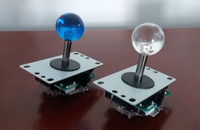 1 Pcs Quality Joystick With Transparent Top Ball For Arcade Game Machine USB To Jamma Controller