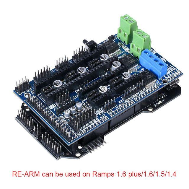 3D Printer Parts Cloned RE-ARM 3D Printer Board Upgrade Mega 2560 R3 32 Bit A4988/DRV8825/TMC2208/TMC2130 To Ramps 1.4/1.5/1.6