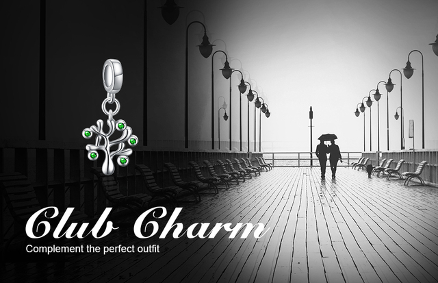 JewelryPalace Life of Tree Cubic Zirconia 925 Sterling Silver Charm Beads Beautiful Gifts For Women 2018 New Hot Sale