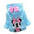 2016 Winter Children Jacket Bow Hoodies Children Coat Girls Clothes Kids Jackets Warm Outerwear Fashion Coat for Girls Clothing