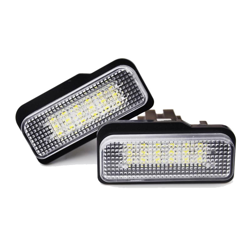 HOPSTYLING 2x car styling LED License plate light For Benz W211 W203 W219 R171 auto accessory rear number plate lamp hopstyling 2pcs direct fit white 18 smd car led license plate light lamp for nissan teana j31 j32 maxima cefiro number light