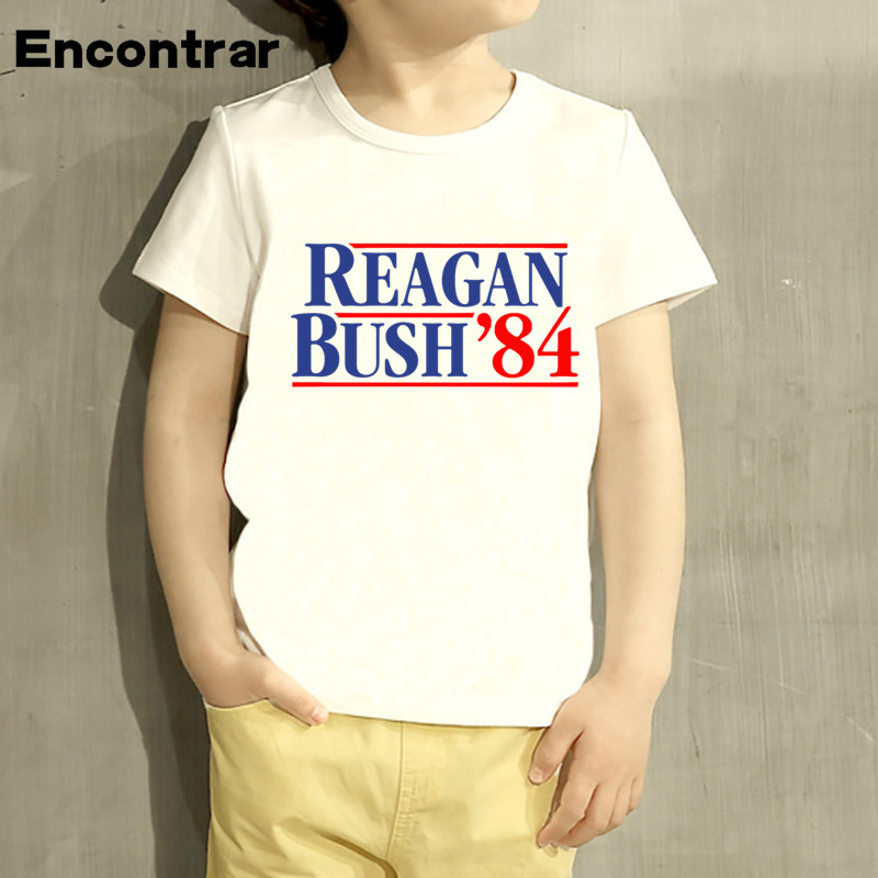 Kids Reagan Bush 84 Design Baby Boys/Girl TShirt Kids Funny Short Sleeve Tops Children Cute T-Shirt,HKP758