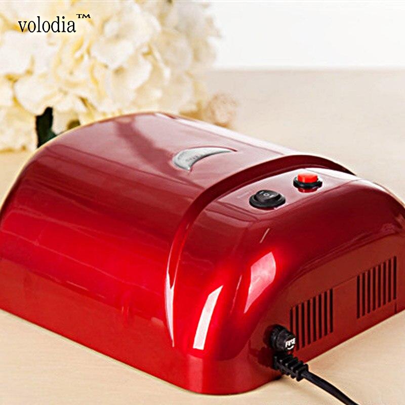 ФОТО volodia 36W UV Lamp UV Curing Machine Nail Dryer Salon UV Light Feet Care Equipment 4 x 9W UV Tube Bulb 220V-250V EU Plug White