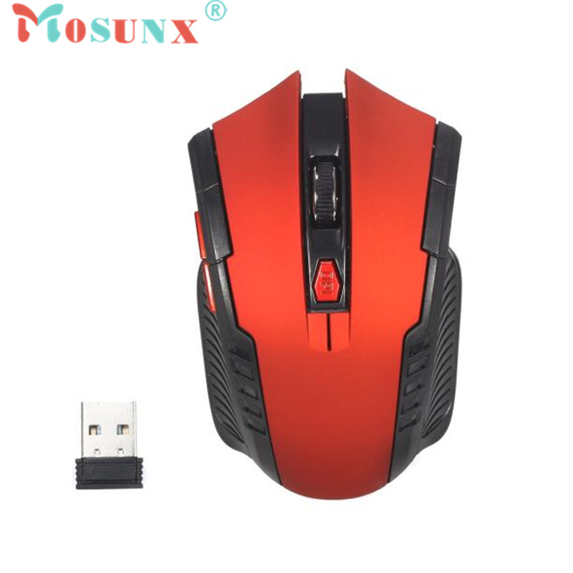 Mosunx Advanced mouse for gaming mouse Wireless 2.4Ghz Mini portable Optical Gaming Mouse For PC Laptop 1PC