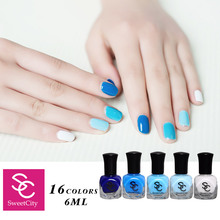 Sweet City Nail Polish Lacquer Varnish Hybrid Long Lasting and Quick Dry Manicure DIY Beauty Nail Art Tools 19 Candy Colors 6ml