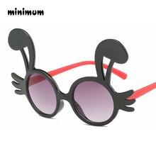 9b7fb8655 MÍNIMO de forma Bonito coelho Crianças Flexíveis Óculos De Sol Polarizados  UV400 Coating Óculos de Sol Óculos Shades da Seguranç.