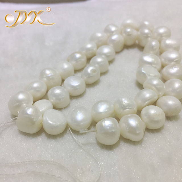 JYX Baroque Loose Pearl Jewelry Wholesale 8-11mm White Real Cultured Freshwater