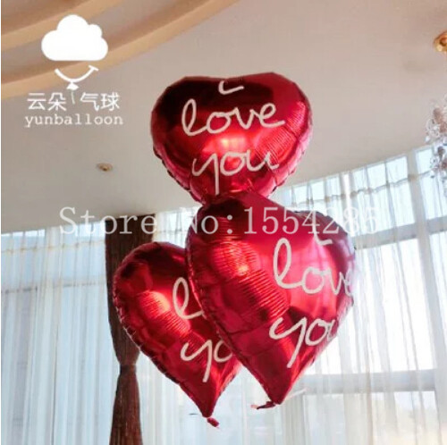 Home & Garden Ballons & Accessories Self-Conscious 3 Pieces 18inch I Love You Foil Mylar Balloons Love Heart Wedding/valentines Day Helium Balloon Inflavel Globos Boda Casamento Be Shrewd In Money Matters