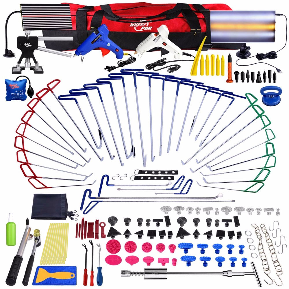 PDR Tools New Quality Hooks Rods Paintless Dent Removal Car Repair Kit Auto Tools Door Dent Ding Hail Removal цена