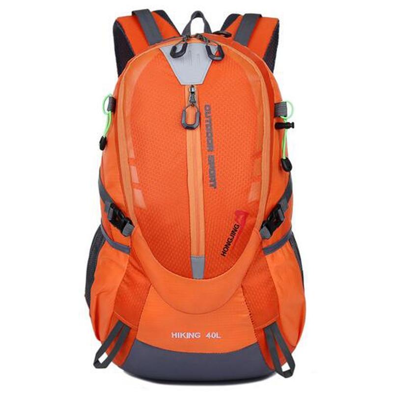 2018 New Fashion Orange Backpack Women Men Waterproof Pack Rucksack Knapsack Men's Backpacks Bolsas Mochila High Quality Z049