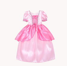 4-14yrs New Christmas girls dress Costume Girls Princess snow white Cinderella girl Dresses clothes