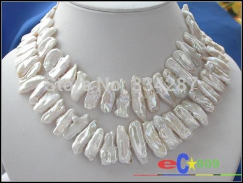 charm accessory choker shone> Luster 32 30MM WHITE DENS BIWA PEARL NECKLACE