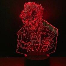 Крутой детский светодиодный ночник Marvel суперзлодей Джокер ночной Светильник для мальчиков Декор для спальни светодиодный ночной Светильник для детей подарок на день рождения