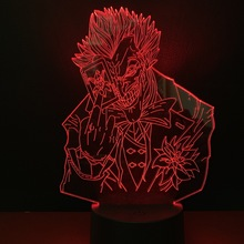 Cool Child Led Night Lamp Marvel Supervillain The Joker Nightlight for Boys Bedroom Decor Light Kids Birthday Gift