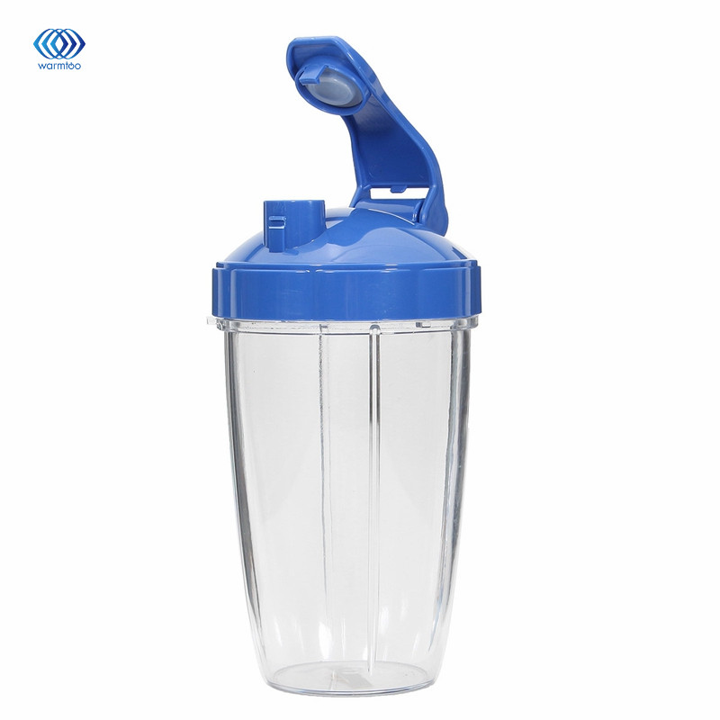 Household Juicer Cup 24 Tall Cup With Blue Flip Lid For Nutribullet Squeeze Juice Parts Durable 1 Pc Transparent Plastic glantop 2l smoothie blender fruit juice mixer juicer high performance pro commercial glthsg2029