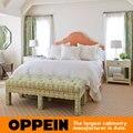 Estilo de la reina moderna tela cama muebles de dormitorio de madera maciza cama/cama de cuero WB-RL160095