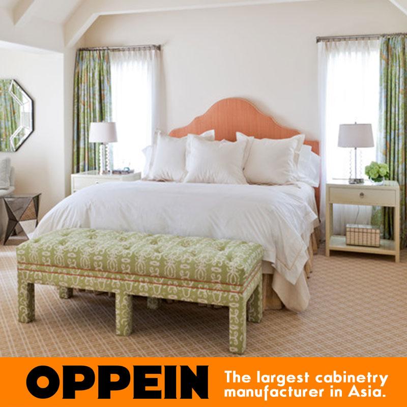 Moderne reine style tissu lit meubles pour chambre en bois massif ...