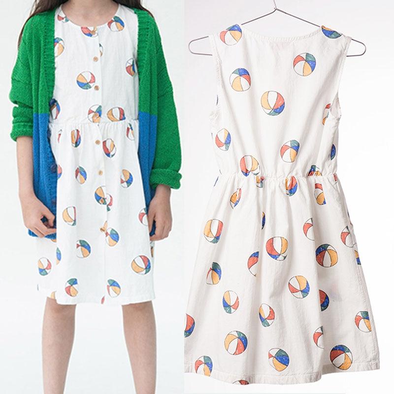 BBK BoboChoses Princess Girls Dress Summer 2017 For Baby Girls Tops Princess Dresses Basketball pattern cotton