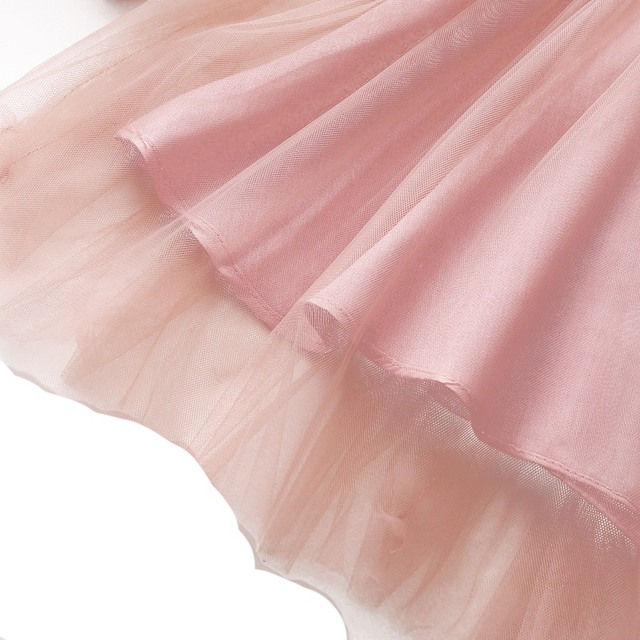 Robe en dentelle pour petites filles 0-3T | Tenue princesse en maille pour enfants, vêtements dété à manches longues, motif Floral