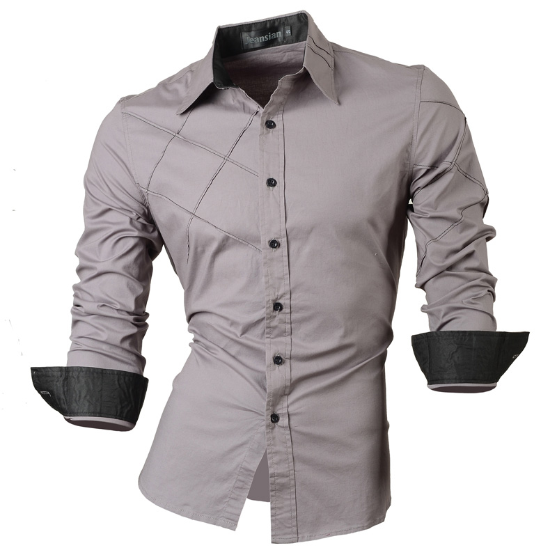 61e72c2274 2018 casual shirts dress male mens clothing long sleeve social slim fit  brand boutique cotton western button white black t 2028-in Dress Shirts  from Men's ...