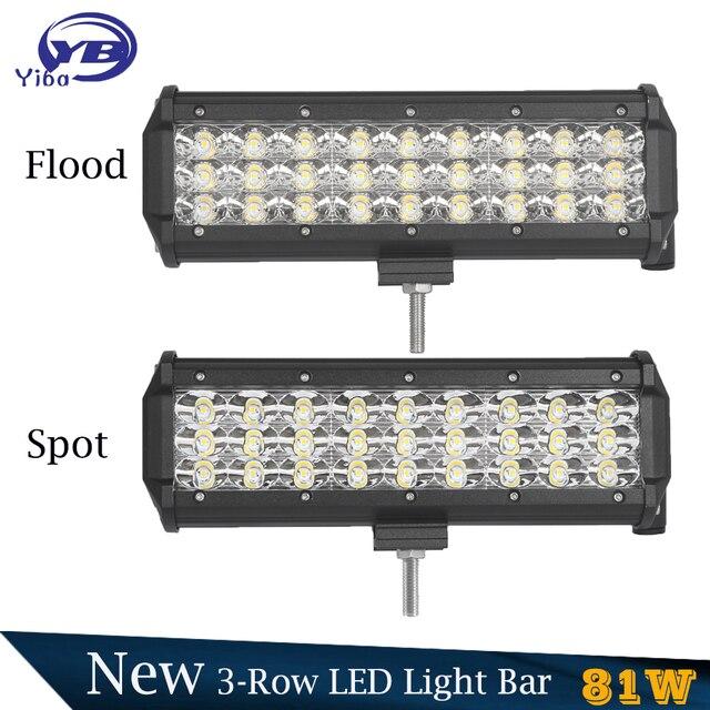 2 pack 81w 3 row led light bar ip67 waterproof 12v flood combo spot 2 pack 81w 3 row led light bar ip67 waterproof 12v flood combo spot beam aloadofball Gallery