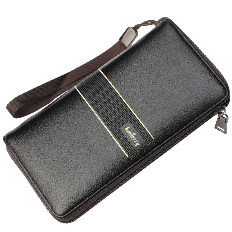 Fashion Clutch Male Wallet Men Wallets PU Leather Long Large Capacity Zipper Male Clutch Bags Coin Purse with Card Holder Wallet bostanten wristlet split leather men wallets zipper coin purse holders design leather male wallet large capacity wallet for men