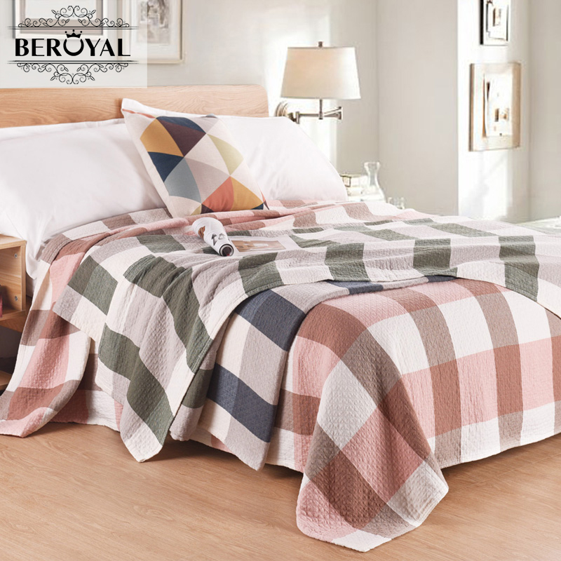 New 2017 Throw Blanket - 1piece 150*200cm 100% Cotton Blanket three Layers Gauze Plaid Blanket Adult Super Soft  Muslin Blankets new 2017 throw blanket 1piece 150 200cm 100