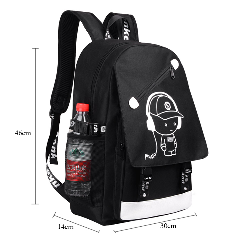 Boshikang Anti-theft Usb15.6inch Laptop Backpack Leisure School Backpack Teenager Large Capacity Casual Backpack Fashion Men Bag #2